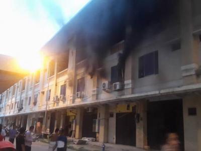 Kebakaran di Ruko (foto: tribunnews.com)